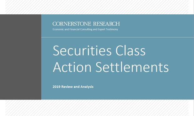Securities Class Action Settlements 2019