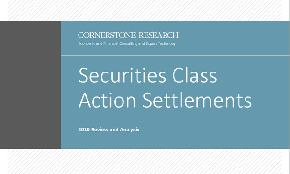 Securities Class Actions Hitting Pharma Hardest