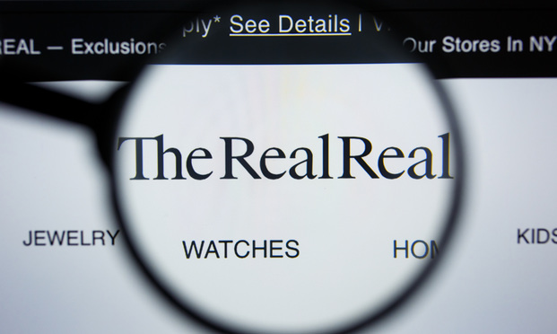 The RealReal.com website homepage