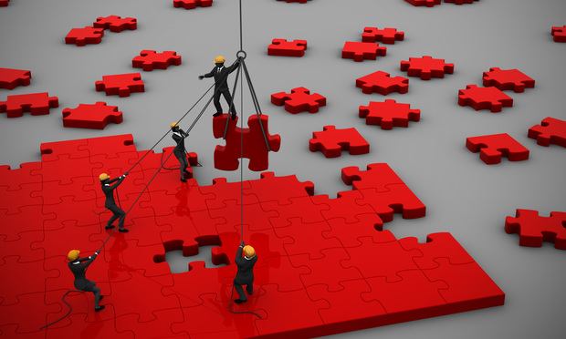 Company Teamwork Puzzle