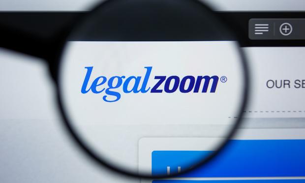 LegalZoom website.