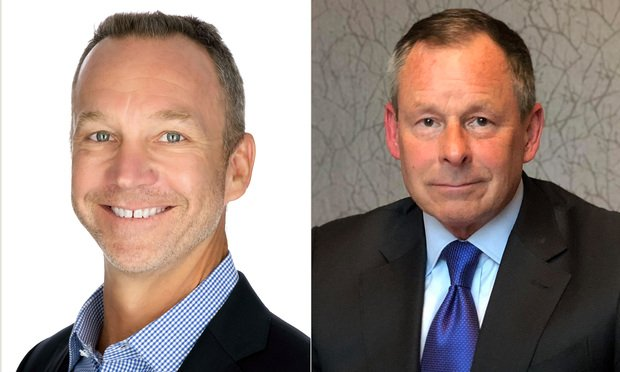 Scott Shepherd, left, chief legal officer at Ontic, and Tom Mars, right, former Walmart general counsel now on the advisory board at Ontic. Courtesy photos