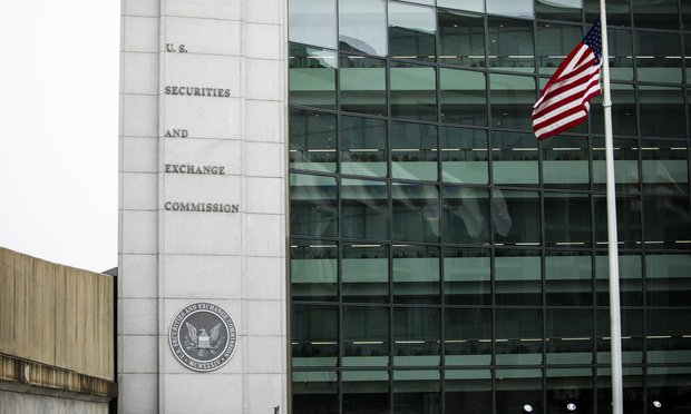 U.S. Securities and Exchange Commission building in Washington, D.C. Photo: Diego M. Radzinschi/ALM