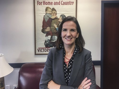 Deirdre Daly, U.S. attorney for the District of Connecticut, in her New Haven offices. She is stepping down from the post on Friday.