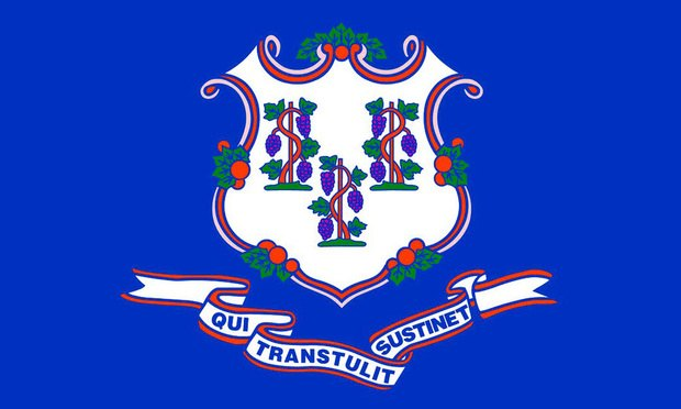 The Connecticut state flag