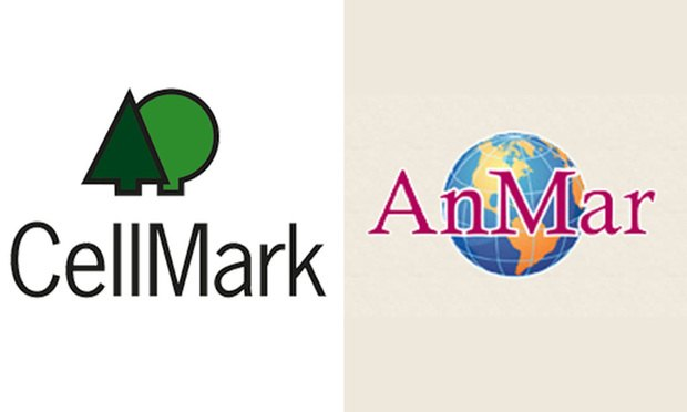 Logos of Connecticut companies Cellmark and AnMar.
