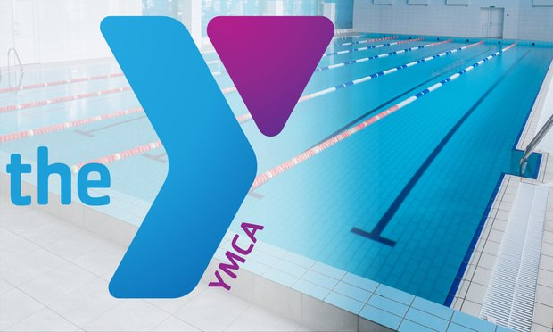 YMCA logo and pool.