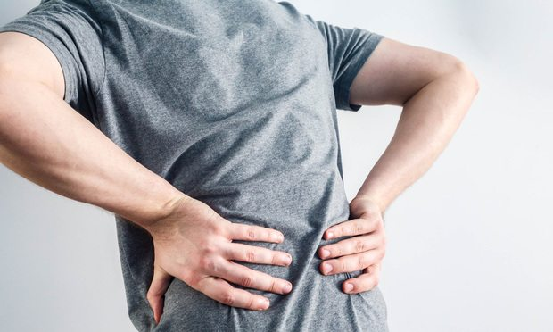 Man with back pain.
