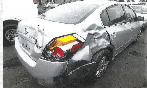Michael Kelly was seriously injured in a crash on I-95 in West Haven in March 2015. This is his 2008 silver Nissan Altima after the accident.