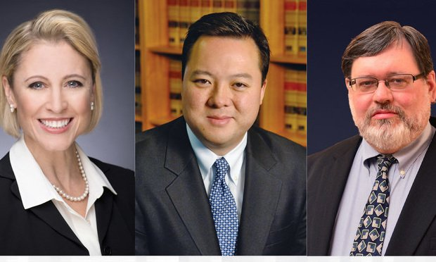 from left, Republican Attorney General candidate Susan Hatfield, Democratic Attorney General candidate William Tong and Green Party candidate Peter Goselin