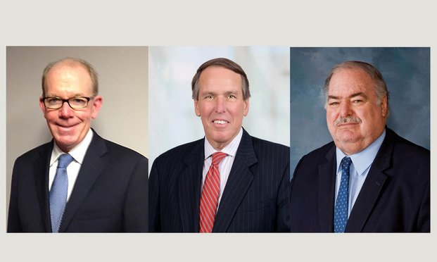 L-R: Jamie Sullivan, managing partner with Howard Kohn Sprague & FitzGerald, Stan Twardy Jr, partner with Day Pitney and Martin Minnella, senior partner with Minnella Tramuta & Edwards.