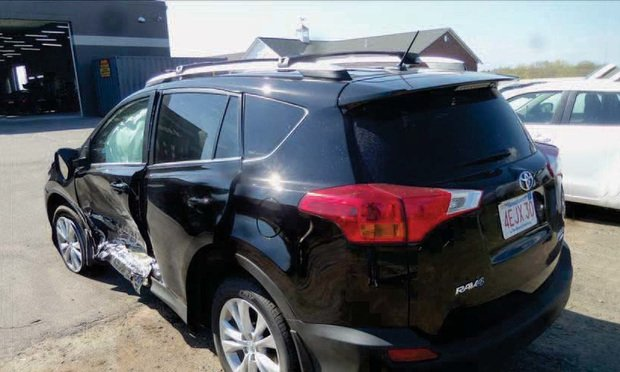 This Toyota RAV4 was driven by Kenneth Gilbert, who was in a collision in Windsor Locks in 2013. The car was totaled.