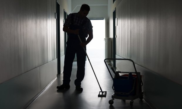 Janitor Sweeping.