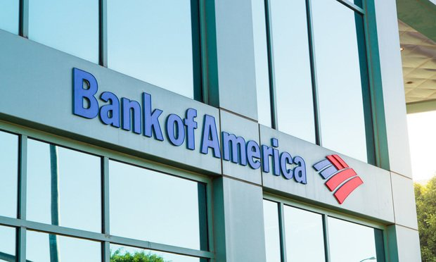 A Bank of America branch,