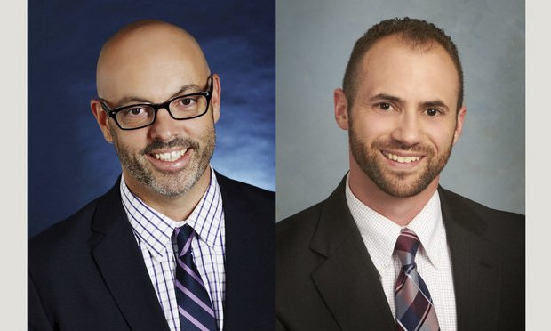 Kevin Roy, of Shipman & Goodwin, left, and Beck Fineman, of Ryan Ryan Deluca, right.