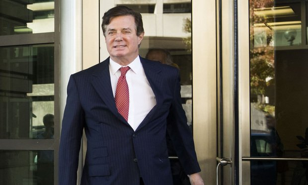 Paul Manafort leaves the U.S. District Court for the District of Columbia after a status conference on November 2, 2017.