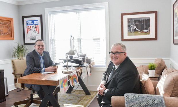 Ryan McKeen (left) and Jay Ruane (right) are two of nine attorneys answering legal questions for people in Connecticut on Facebook. Ruane created the Facebook group, which debuted Oct. 31.