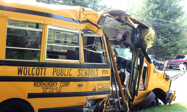 Gabriel Goncalves suffered two skull fractures following this accident in which his school bus crashed into a tree in Wolcott in June 2015. A November 2019 jury awarded the boy $23,050,000.