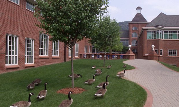 The front of the School of Law on the campus of Quinnipiac University.