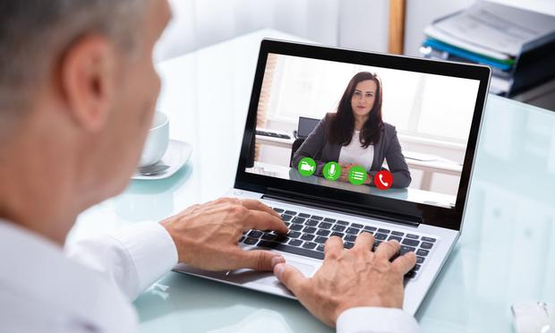 Videoconferencing.
