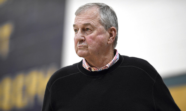 Jim Calhoun during an NCAA college basketball game on Jan. 10.