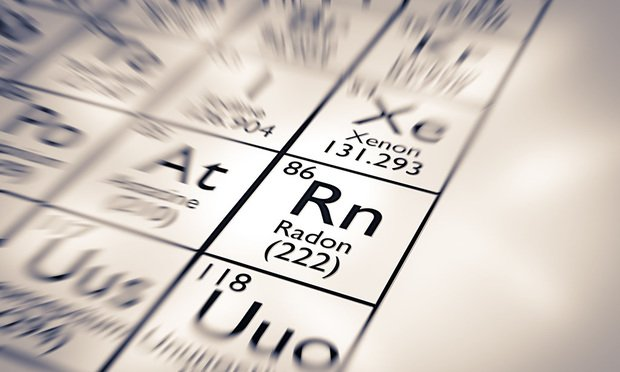 Radon Chemical Element from the Mendeleev Periodic Table.