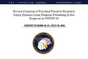 SBA Inspector General: Widespread Reports of Fraud Tied to COVID 19 Loan Program
