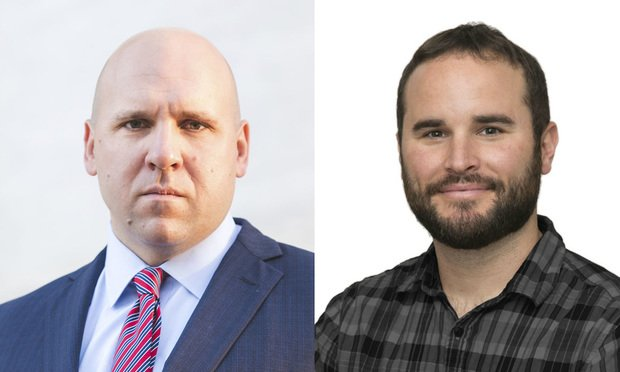 Attorney Peter Bowman, left, and his cousin, documentary filmmaker Ryan Gates, right.