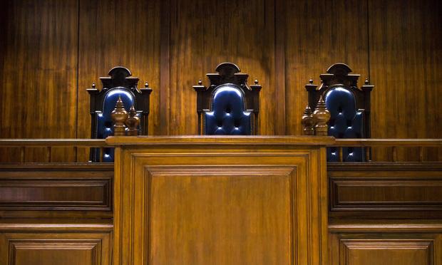 Empty judge bench.
