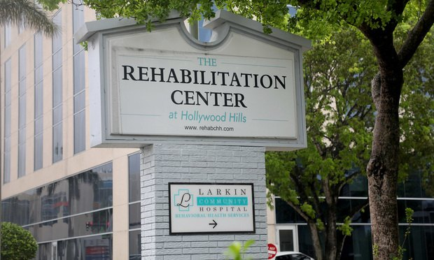 The Rehabilitation Center at Hollywood Hills, Hollywood, Florida.
