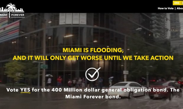 Fresh From Deluge, Miami Weighs Bonds to Gird for Climate