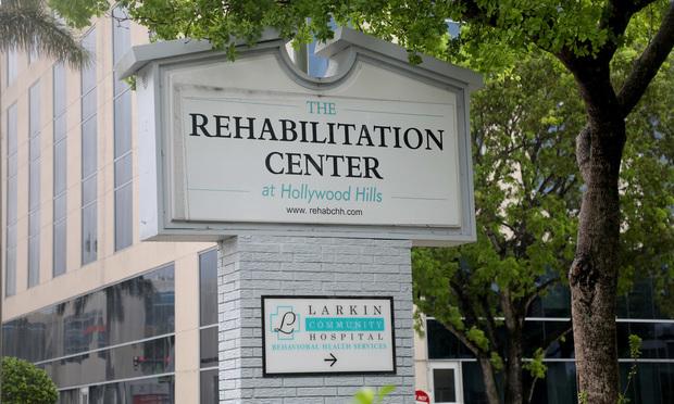 The Rehabilitation Center at Hollywood Hills, Hollywood, Florida.