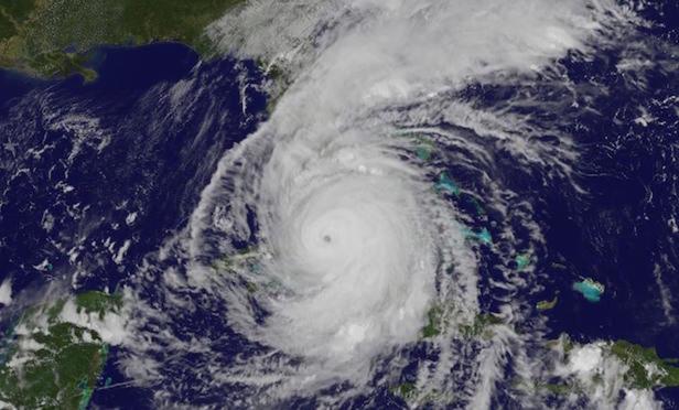 Hurricane Irma covers Florida.