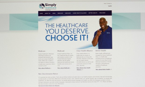 Simply Healthcare website