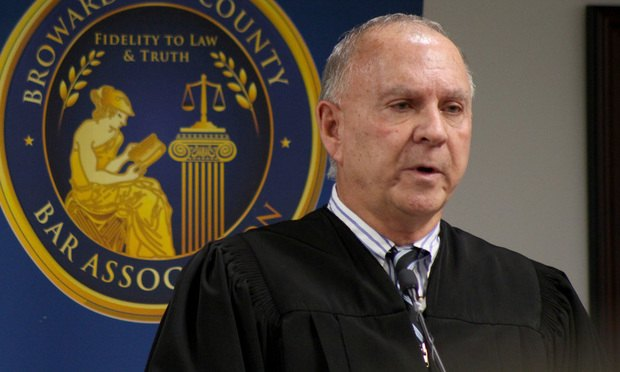 Broward County Court Chief Judge Jack Tuter/photo by J. Albert Diaz