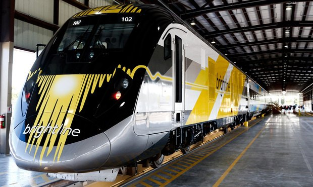 The All Aboard Florida Brightline express/Photographer: Scott McIntyre/Bloomberg