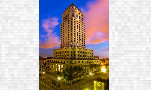 Miami-Dade County Courthouse at sunrise/photo by J. Albert Diaz