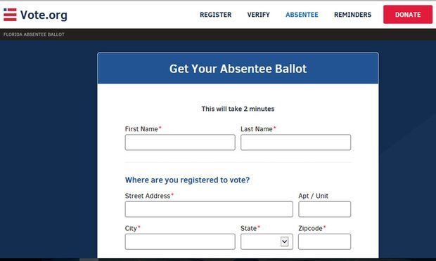 Screenshot of Vote.org/courtesy photo