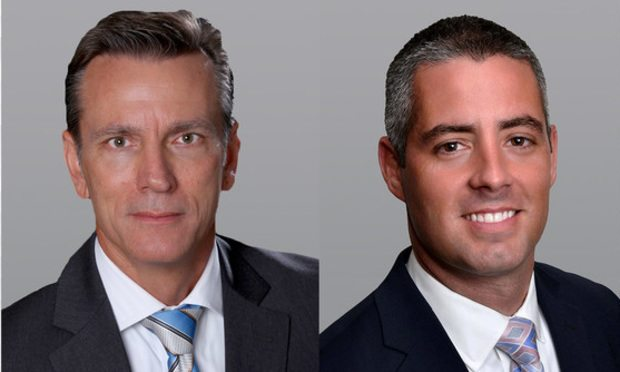 Cushman & Wakefield executive director Wayne Ramoski and director Gian Rodriguez in Miami/courtesy photos