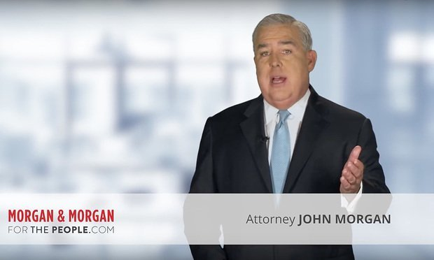 "Morgan & Morgan ""All That Glitters"" advertisement featuring attorney John Morgan. Image via YouTube"