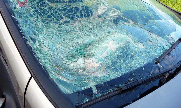 A car's broken windshield after an accident. Photo by Pixeljoy/Shutterstock.com