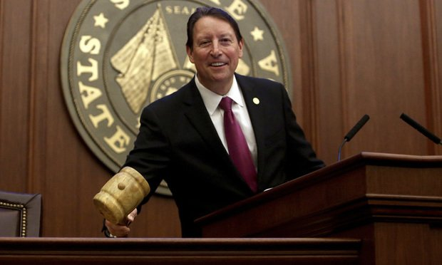 Florida Senate President Bill Galvano calls the Florida Senate to session on the first day of the 60-day session in Tallahassee Tuesday, March 5, 2019. Photo by Scott Keeler/Tampa Bay Times via AP