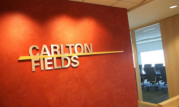 Carlton Fields Office Logo. Photo: J. Albert Diaz