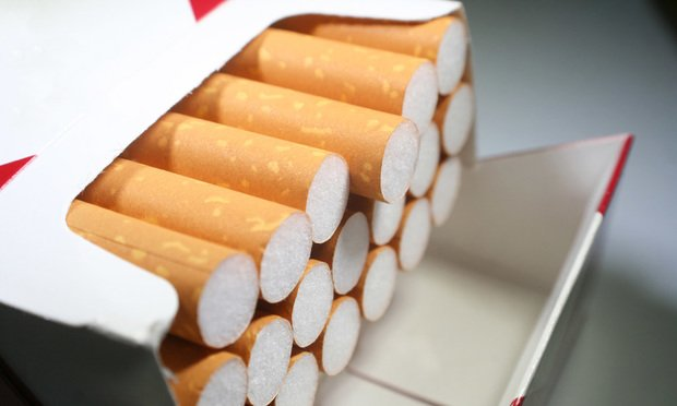 Open cigarette pack. Photo: Shutterstock.com.