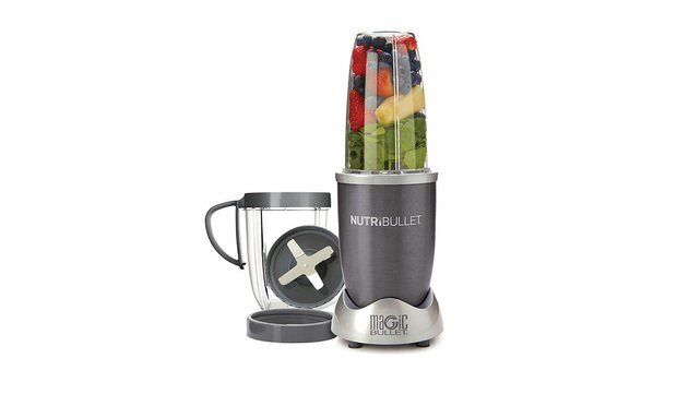 Nutribullet blender complete with smoothie ingredients. Courtesy photo.