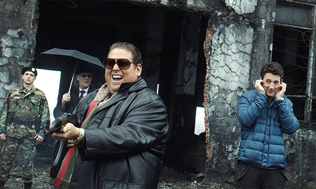 """Jonah Hill, left, and Miles Teller, right, in the film """"War Dogs,"""" directed by Todd Phillips. A book by defendant Guy Lawson, which the plaintiff claimed defamed him."""