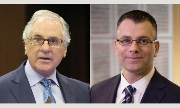 William Scherer, left, of Conrad & Scherer. Photo: J. Albert Diaz/ALM. And Paul D. Turner,right, of Perlman Bajandas Yevoli & Albright. Courtesy photo.