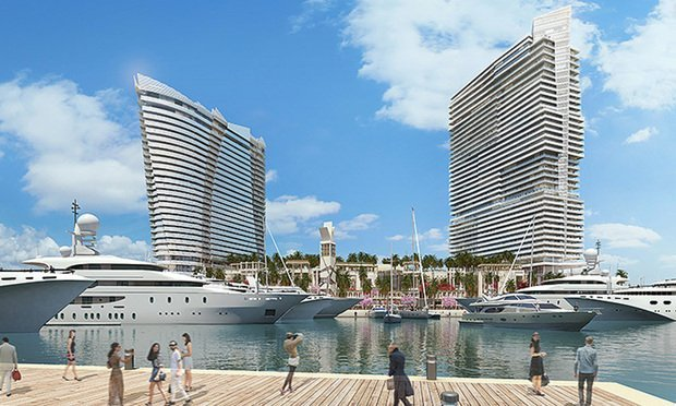 Rendering of Flagstone Island Gardens project for Miami's Watson Island.