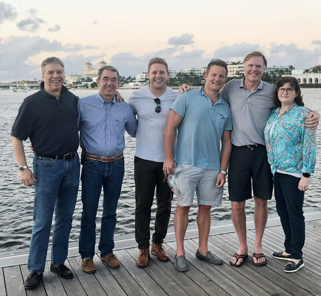 (l-r) C. Sanders McNew (Attorney, McNew P.A.), Daniel McGrath (Deputy General Counsel for ADT), Eric Hobbs (Associate Attorney), Charles Eblen (Partner), Richard Sander (Partner), Kim Ross (Project Manager). All attorneys save McNew and McGrath are with Shook, Hardy and Bacon LLP. Courtesy photo