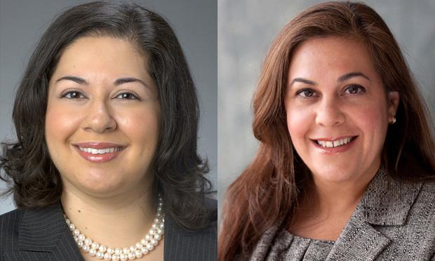 (L to R) Katherine Califa senior counsel Washington, DC and Laura Ganoza partner, Miami Foley & Lardner (Photo: Courtesy Photo) .